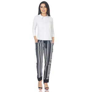 Paperbag Striped Trousers
