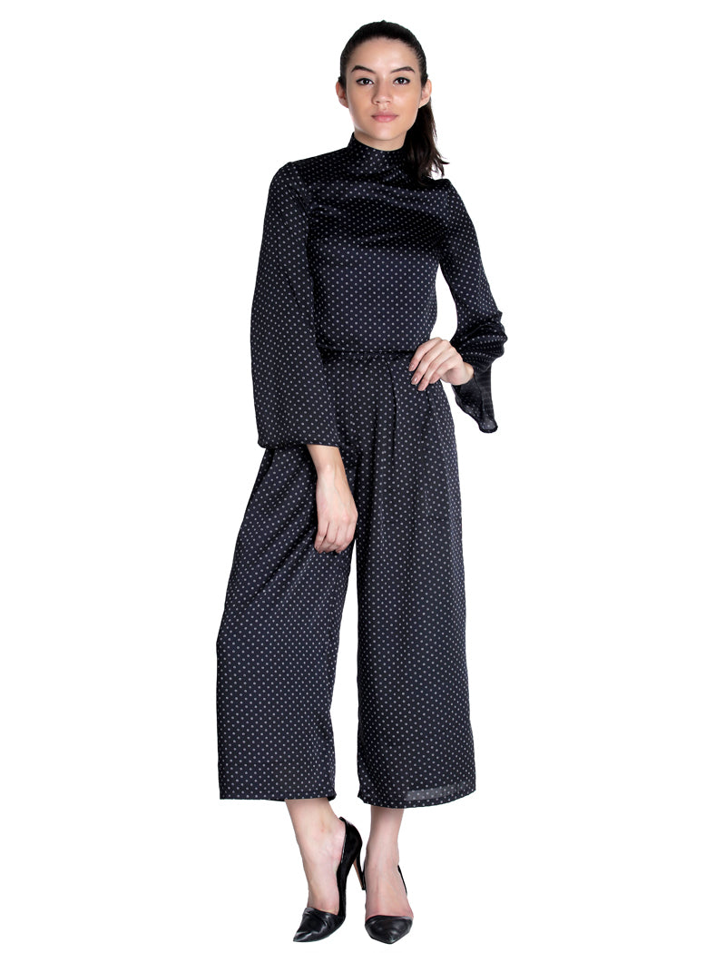 Bat Sleeves Top With Culottes