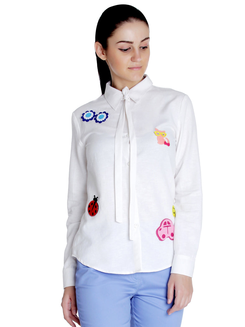 Casual Patch Shirt