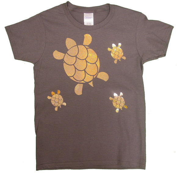 Holographic Gold Turtles - nooga-T booga-T