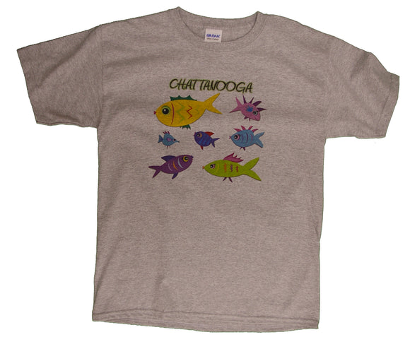 Multiple Cartoon Fish with Chattanooga - nooga-T booga-T