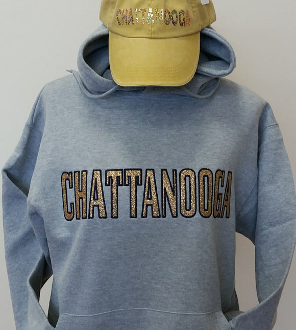 Hoodie Sweatshirt with CHATTANOOGA - nooga-T booga-T