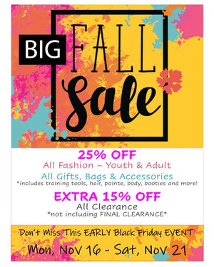 It's time for our BIG FALL SALE!