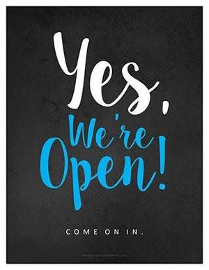 Open Today!