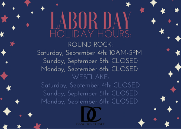 Labor Day Holiday Weekend Closings