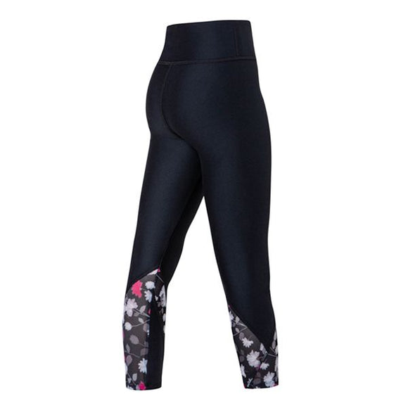 Bailey 7/8 Legging Black Wildflower Tween