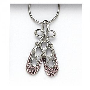 2781 Ballet Shoe Necklace