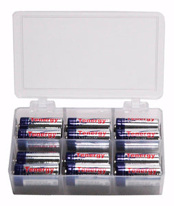 Battery Case with Twelve CR123 Batteries