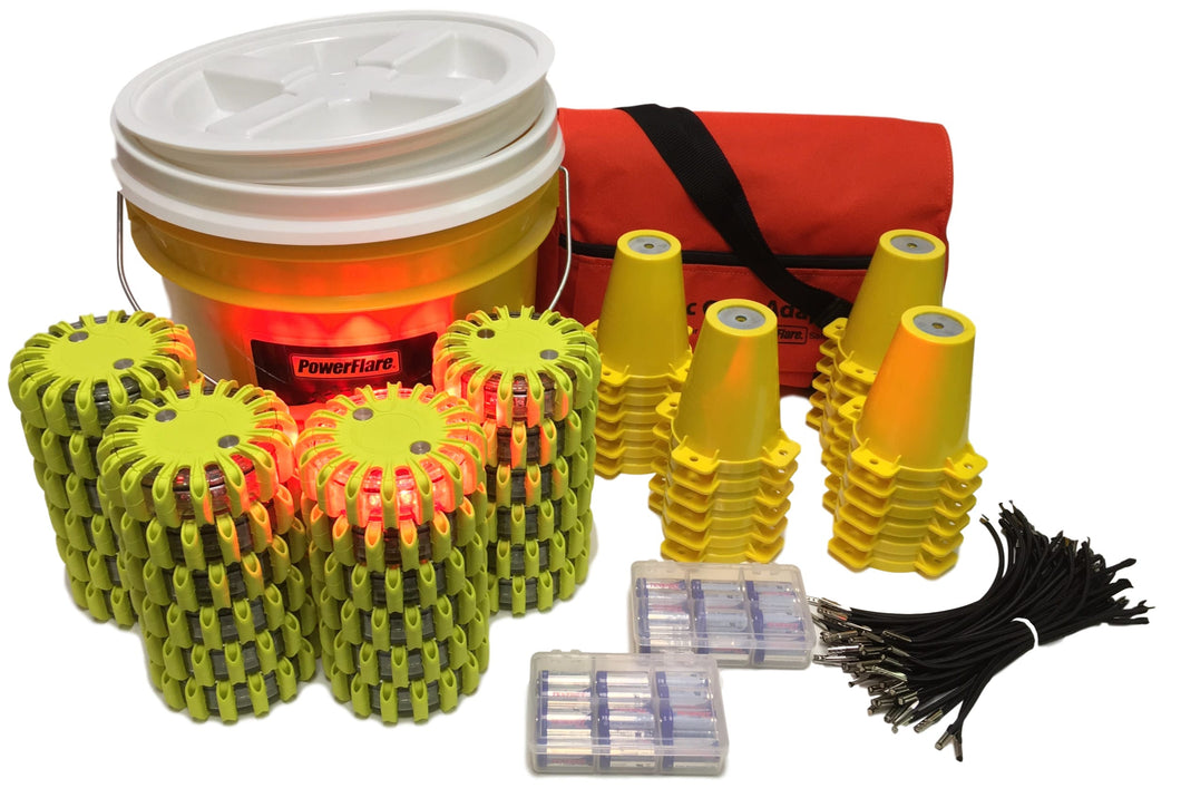 Cone Kit with Bucket of 24 Beacons