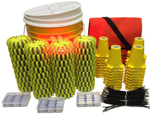 Cone Kit with Bucket of 36 Beacons