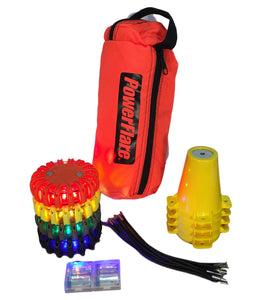Cone Kit with Triage Marker Light Kit - Four Pack