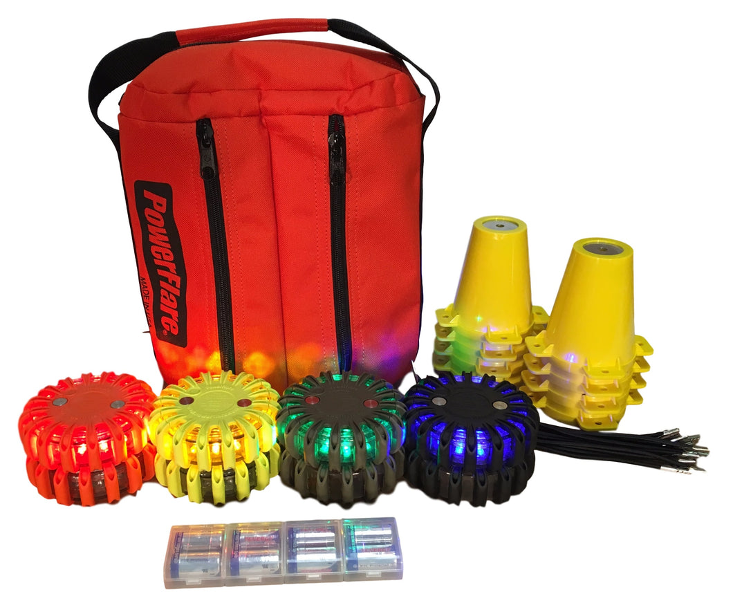 Cone Kit with Triage Marker Light Kit - Eight Pack