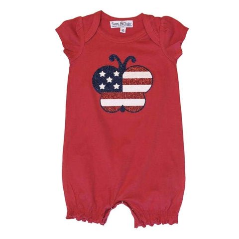 Sweet As Sugar Couture Let Freedom Fly Romper