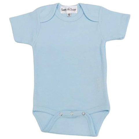 Sweet As Sugar Couture Bamboo Onesie - Baby Blue
