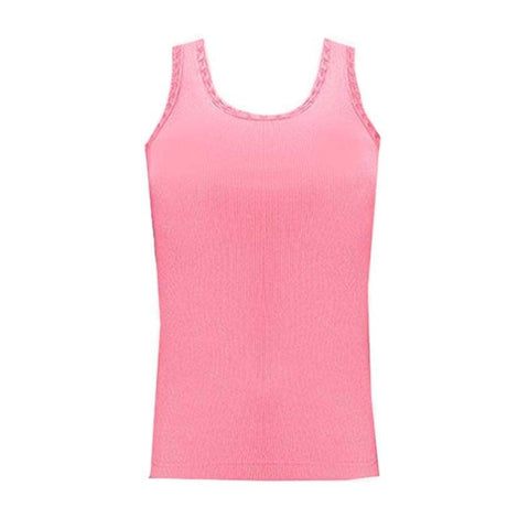 Sweet As Sugar Couture Diamond Trim Tank - Pink