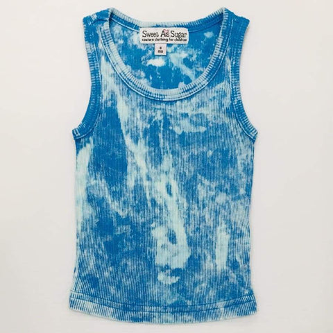 Sweet As Sugar Couture Tie Dye Tank - Turquoise