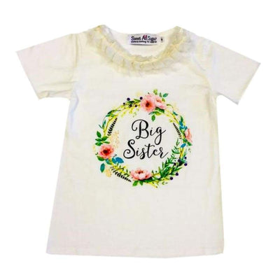 Sweet As Sugar Couture Big Sister T-Shirt - Ivory