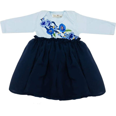 Sweet As Sugar Couture Baby Girl's Blue Formal Dress