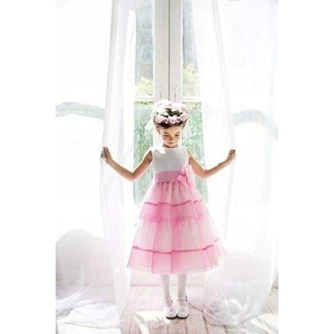 Cinderella Couture  Pink Tiered Organza Special Occasion Dress