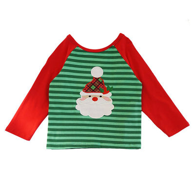 Sweet As Sugar Couture Santa Raglan Top