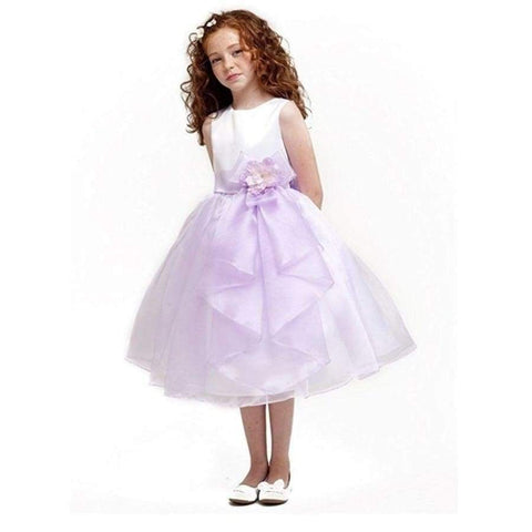 Cinderella Couture Purple Cascading Organza Special Occasion Dress