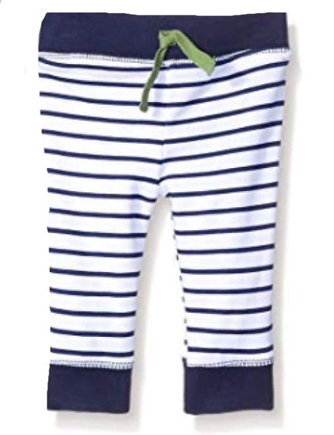 Sweet as Sugar Couture Drawstring Baby Bottom - Navy Stripe