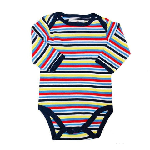 Sweet As Sugar Couture Brightly Striped Onesie