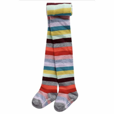 Eva & Elvin Stripe Fruit Tights in Multi - Footwear