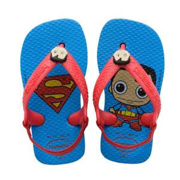 Havaianas Baby Heroes Superman Sandal - 4C (17/18) / Superman - Footwear