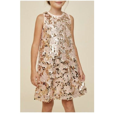 Hayden Girls Rose Gold Sequin Dress - Dress