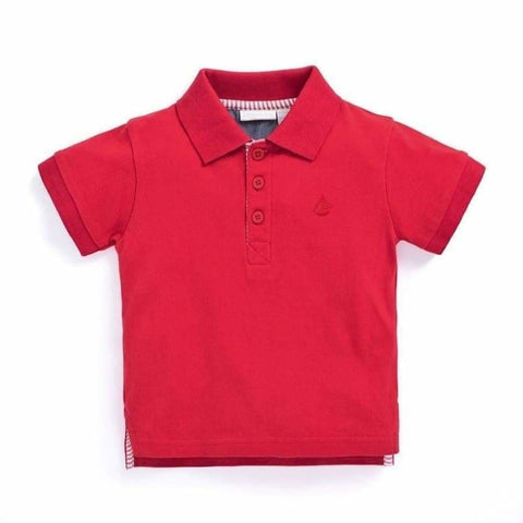 JoJo Maman Bebe Red Polo Shirt - Top