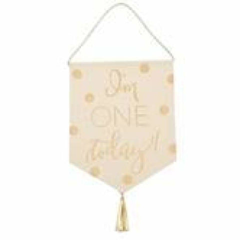 Mud Pie 1st Birthday Gold Banner - Gift Item