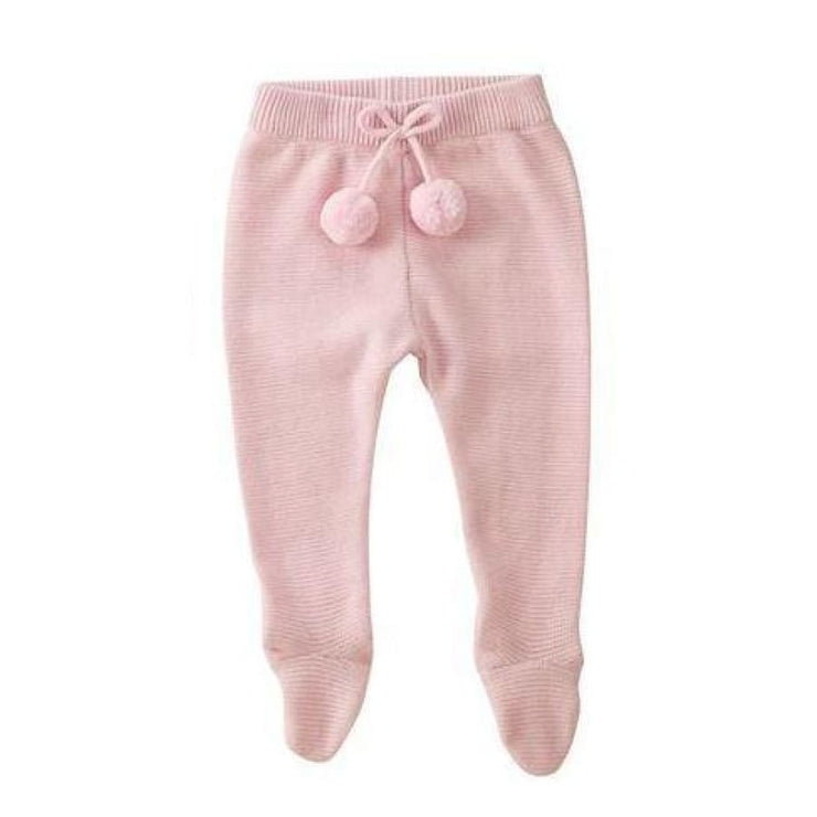 Mud Pie Knit Footed Legging - Pink - 3-6M - Bottom