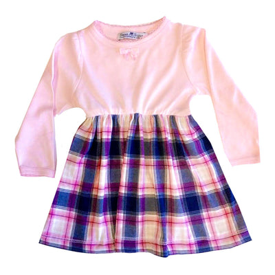 Sweet As Sugar Couture Pink Plaid Organic Dress