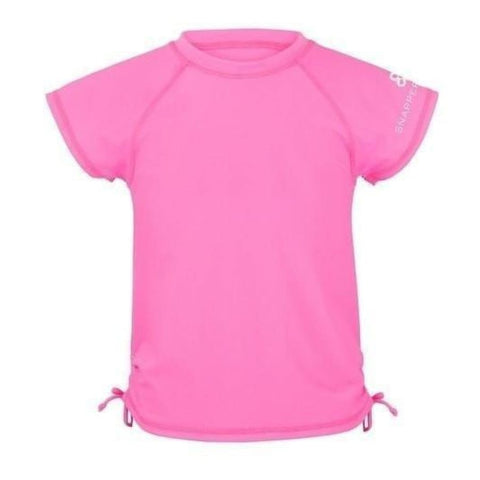 Snapper Rock Neon Pink Rash Top - 14Y - Swimwear