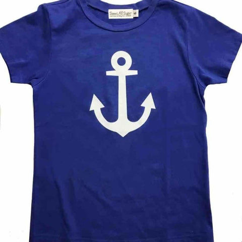 Sweet As Sugar Couture Anchor Tee - 8Y - Top