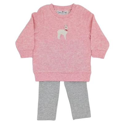 Sweet As Sugar Couture Baby Llama Drama Set - Romper & Set
