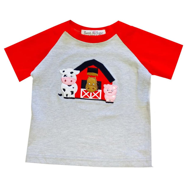 Sweet As Sugar Couture Barnyard Friends Tee - 2Y - Top