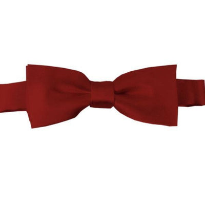 Sweet As Sugar Couture Boys Satin Bow Tie - Red - Accessory