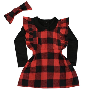 Sweet As Sugar Couture Buffalo Plaid Apron Dress - Dress