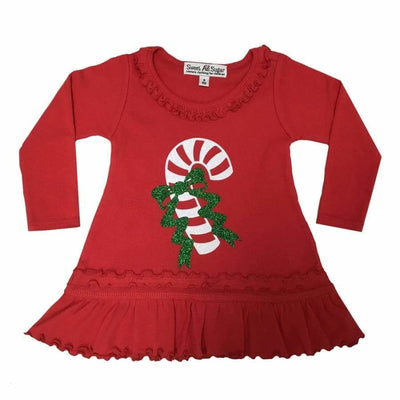 Sweet As Sugar Couture Candy Cane Tunic Dress - Top