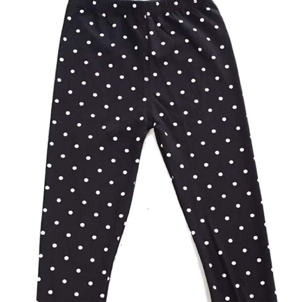 Sweet As Sugar Couture Comfort Legging - B/W Polka Dot - Bottom