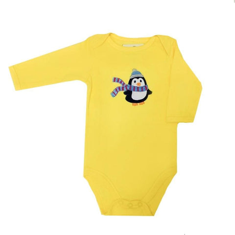 Sweet As Sugar Couture Cozy Penguin Appliqued Onesie - 0-3M - Top