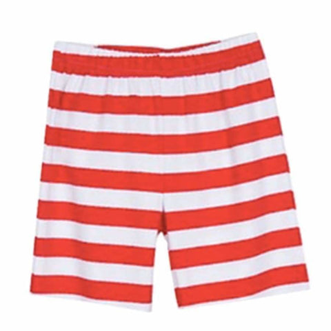 Sweet As Sugar Couture Essential Knit Striped Pocket Short - Red - 4Y - Bottom