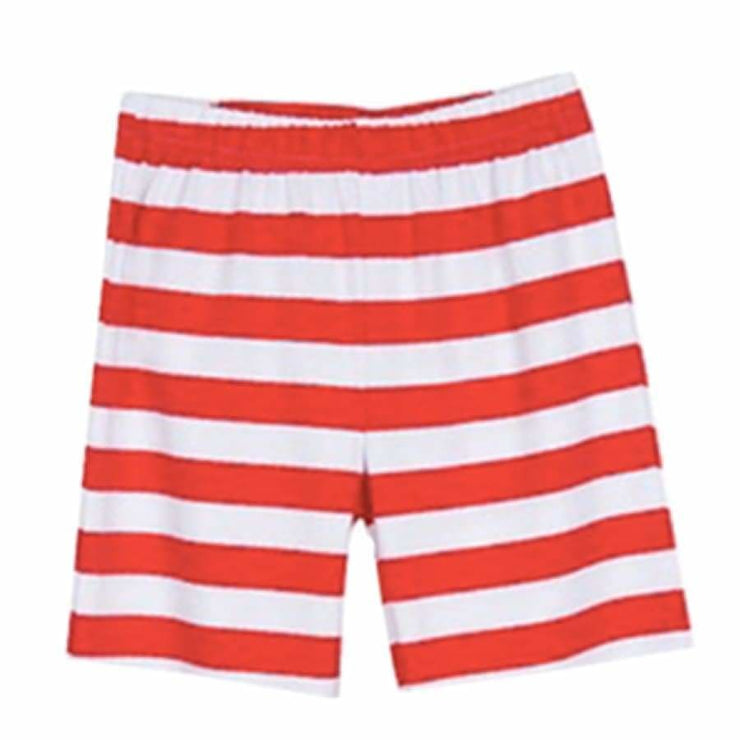 Sweet As Sugar Couture Essential Knit Striped Short - Red - 4Y - Bottom