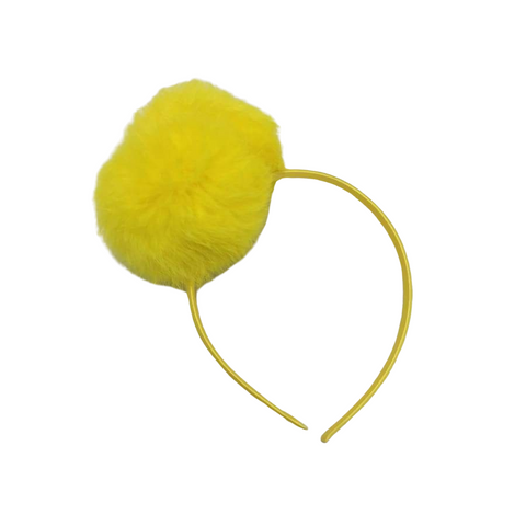 Sweet as Sugar Couture Girls Double Pom Headband - Yellow - Accessory