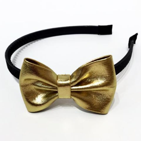 Sweet As Sugar Couture Glitter Headband - Black/Gold - Black/Gold - Accessory