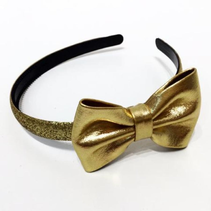 Sweet As Sugar Couture Glitter Headband - Gold - Gold - Accessory