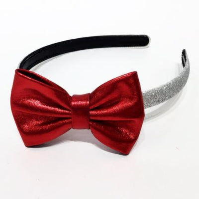 Sweet As Sugar Couture Glitter Headband - Silver/Red - Silver/Red - Accessory