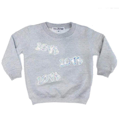 Sweet as Sugar Couture I Love Sparkle Crew - Top
